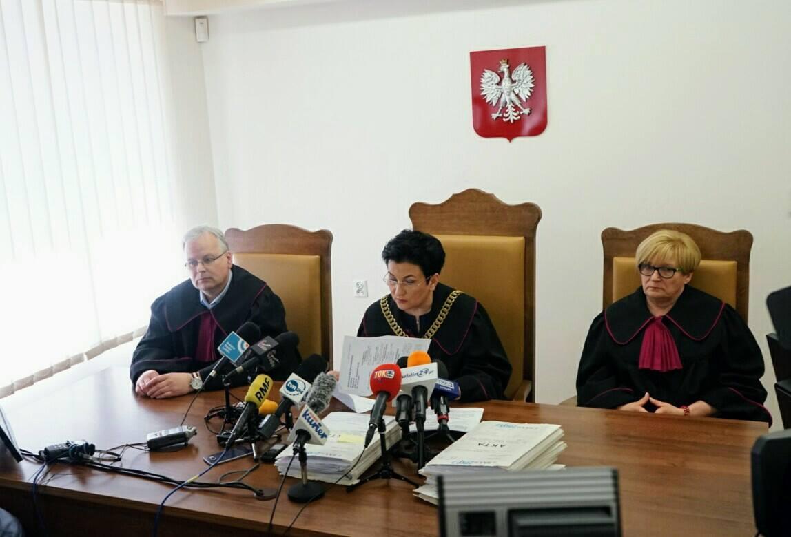 Nie zapadł wyrok w sprawie wygaszenia mandatu prezydenta miasta Krzysztofa Żuka