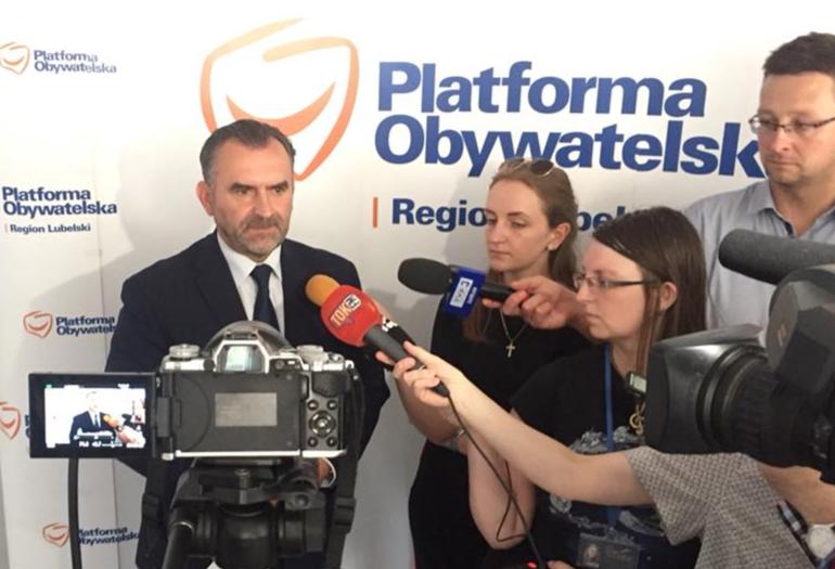 Poseł Platformy Obywatelskiej Włodzimierz Karpiński apeluje do posłów PIS z Lubelszczyzny, aby wypełniali swoje obietnice wyborcze