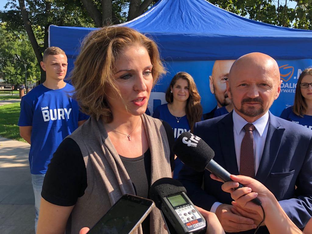 Joanna Mucha udzieliła poparcia Jackowi Buremu