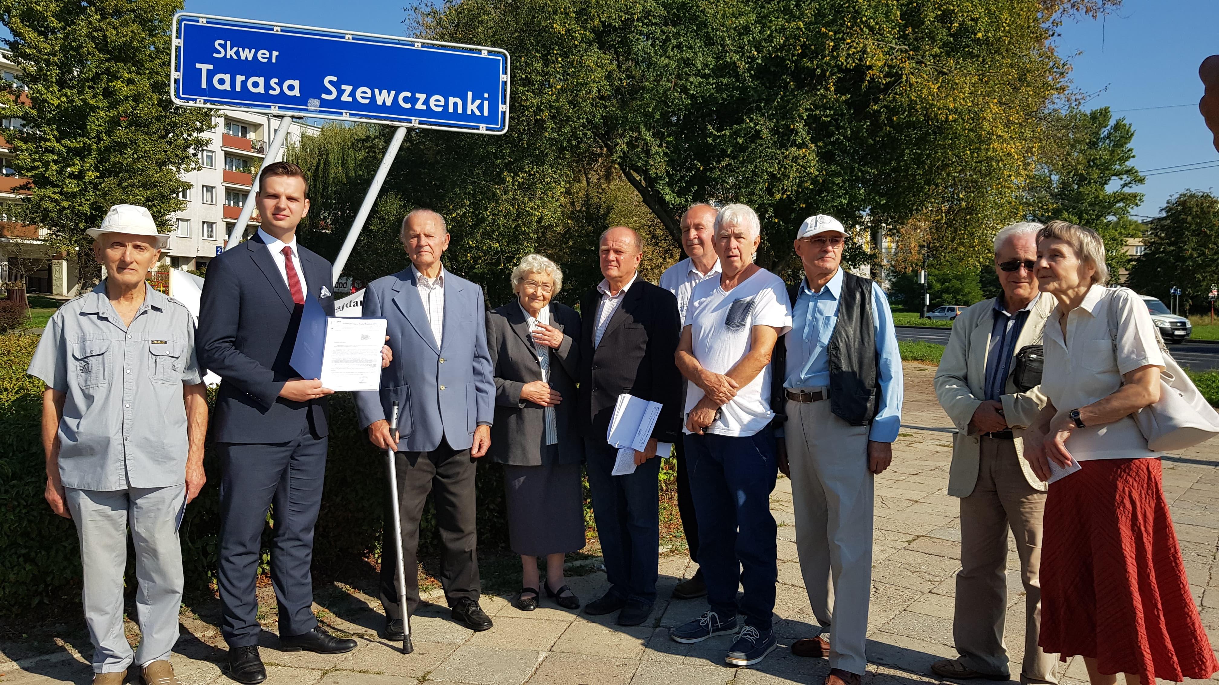 Skwer Tarasa Szewczenki budzi kontrowersje wśród niektórych mieszkańców