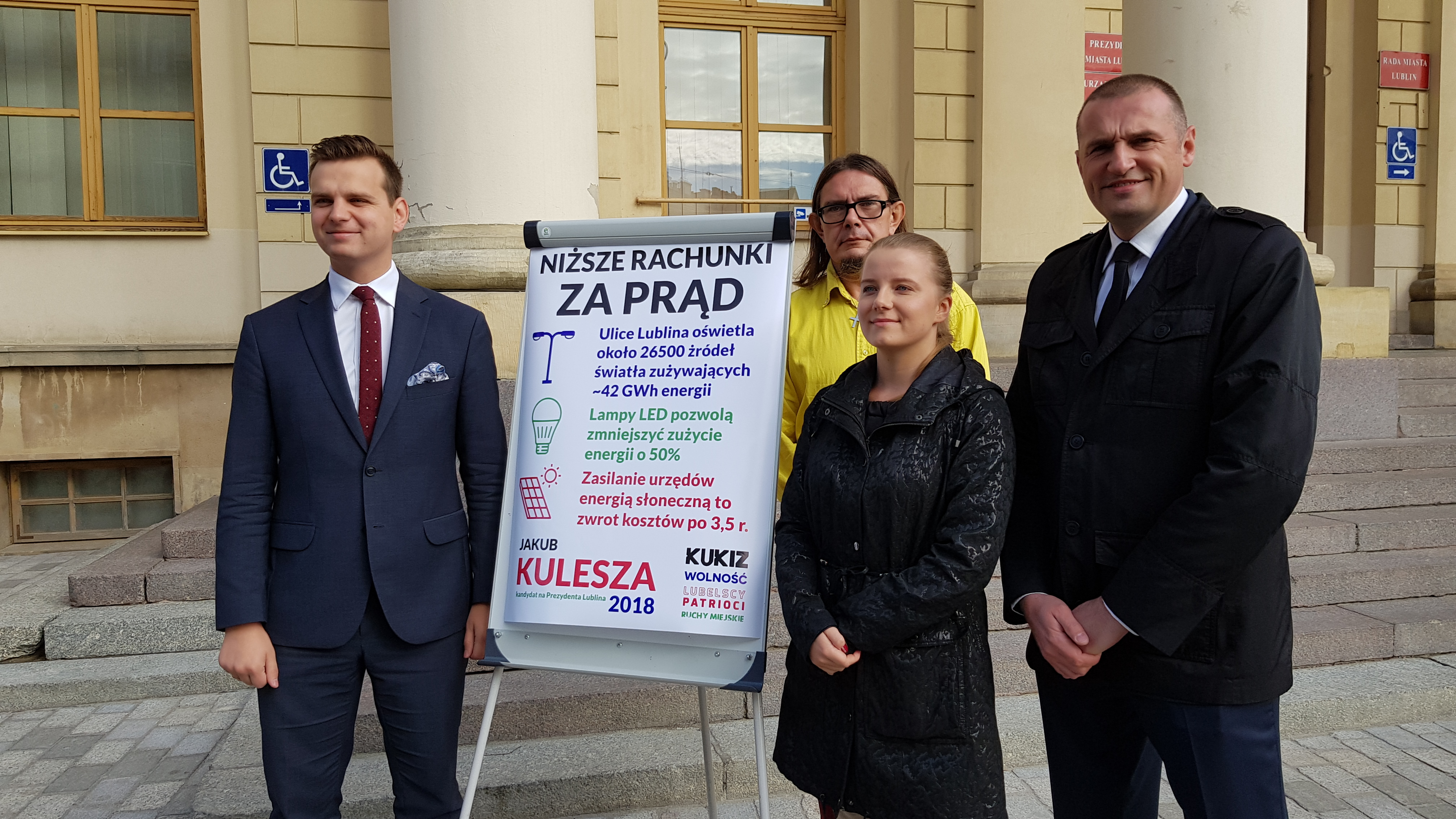 Energooszczędne oświetlenie uliczne zapowiada Jakub Kulesza