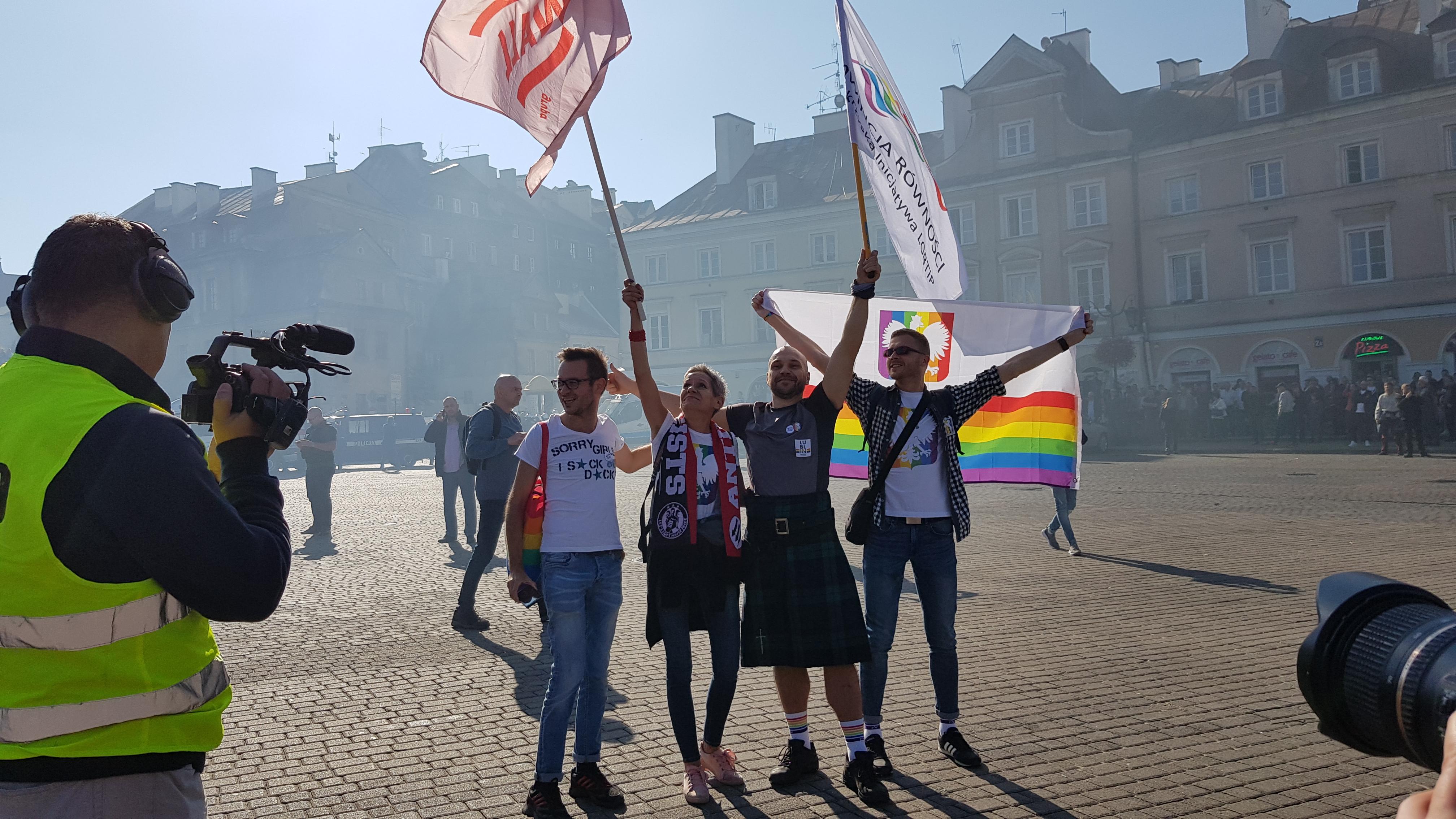 Takich emocji w Lublinie nie było od dawna. Ulicami miasta przeszedł pierwszy w historii Koziego Grodu Marsz Równości
