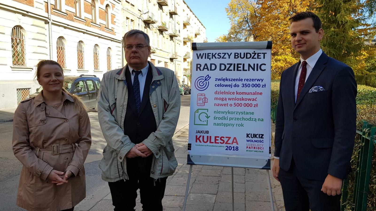 350 tys. zł. rezerwy celowej dla każdej dzielnicy w Lublinie