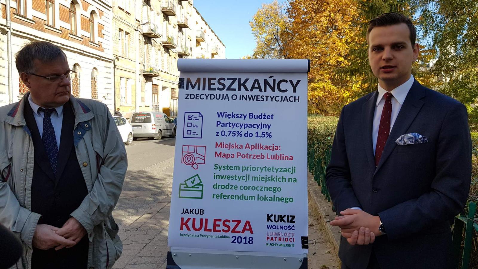 To mieszkańcy zdecydują na jakie inwestycje przeznaczyć ich pieniądze – obiecuje kandydat na prezydenta poseł Jakub Kulesza