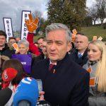 """Biedroń przywiózł """"wiosnę"""" do Lublina"""